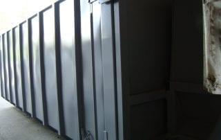 Abrollbehälter für stationäre Schnecke