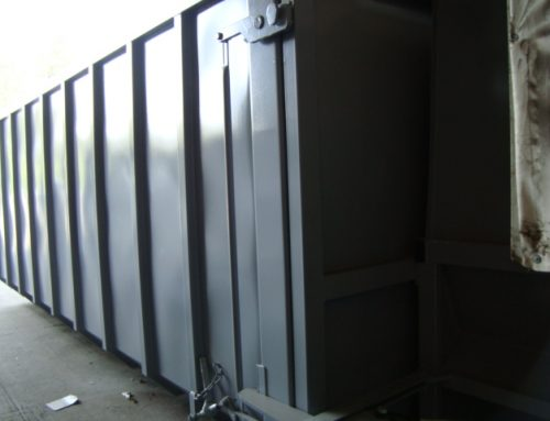 Abrollbehälter für Schneckenverdichter