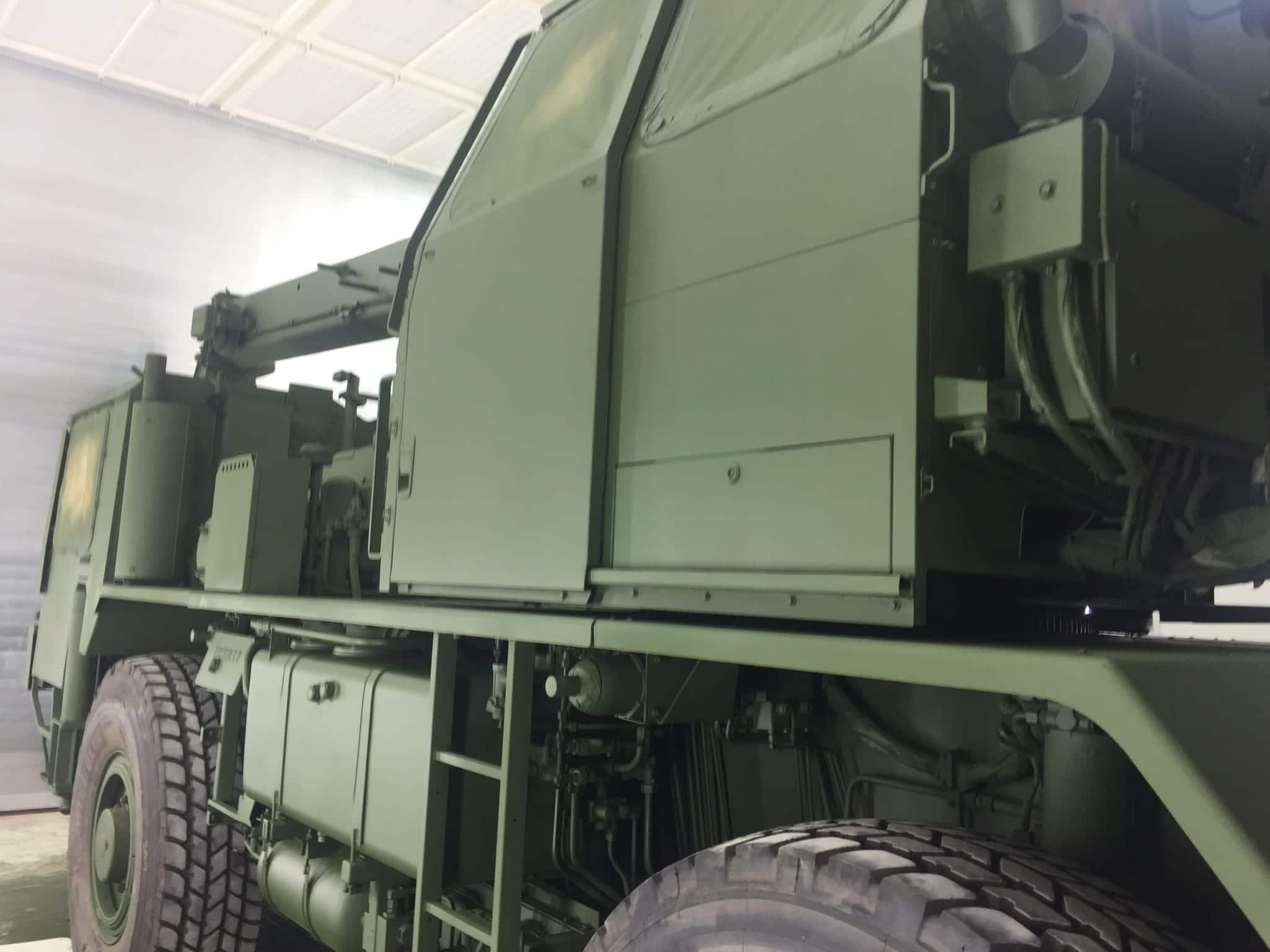 IMG 2558 - Bundeswehr - Lackieren eines Kranwagens