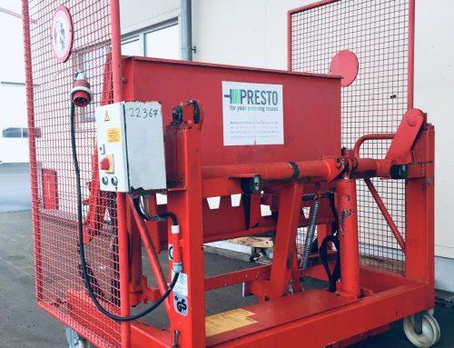 Hub-Kipp-Vorrichtung fahrbar Presto BJ 2008 #22367